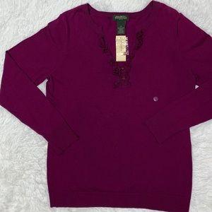 Eddie Bauer Long Sleeve Henley Sweater